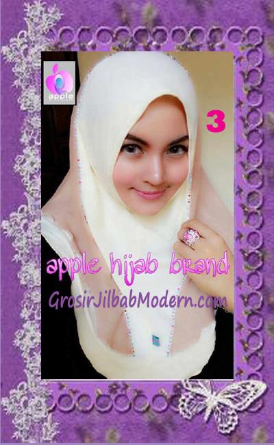 Jilbab Syria Cantik Zhafrina Diamond Original by Apple Hijab Brand No 3 Kuning Gading