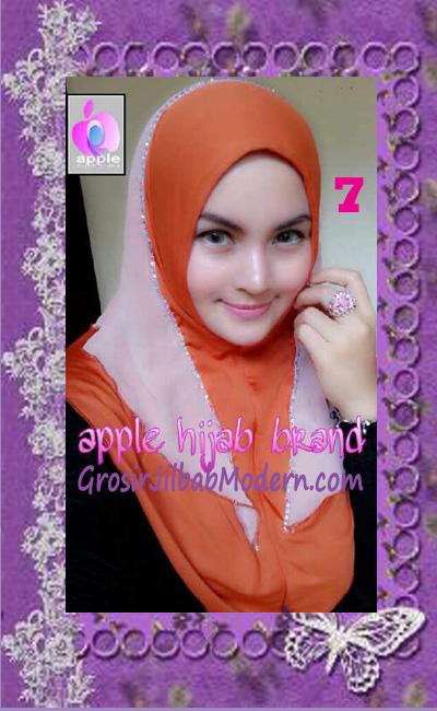 Jilbab Syria Cantik Zhafrina Diamond Original by Apple Hijab Brand No 7 Bata