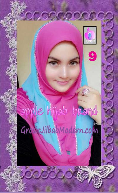 Jilbab Syria Cantik Zhafrina Diamond Original by Apple Hijab Brand No 9 Shocking Pink