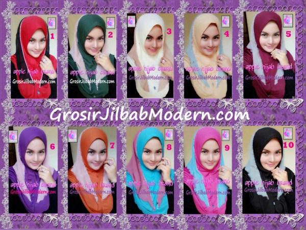 Jilbab Syria Cantik Zhafrina Diamond Original by Apple Hijab Brand Series