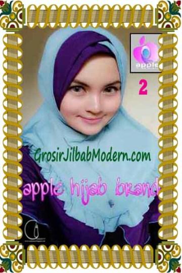 Jilbab Syria Khayra Seri 2 by Apple Hijab Brand No 2 Biru - Ungu