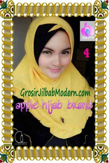 Jilbab Syria Khayra Seri 2 by Apple Hijab Brand No 4 Kuning - Hitam