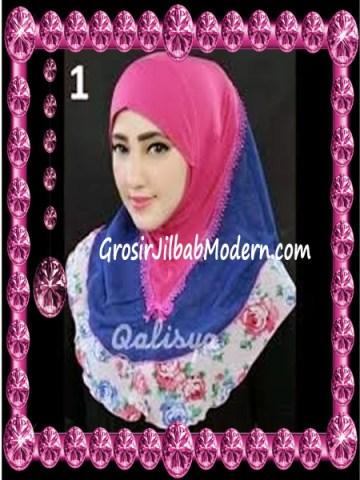 Jilbab Syria Kombinasi Cantik Ahza by Qalisya No 1