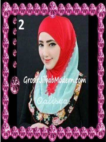Jilbab Syria Kombinasi Cantik Ahza by Qalisya No 2