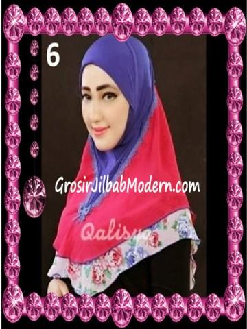 Jilbab Syria Kombinasi Cantik Ahza by Qalisya No 6