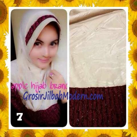 Jilbab Syria Orin Etnik Emboss by Apple Hijab Brand No 7 Cream