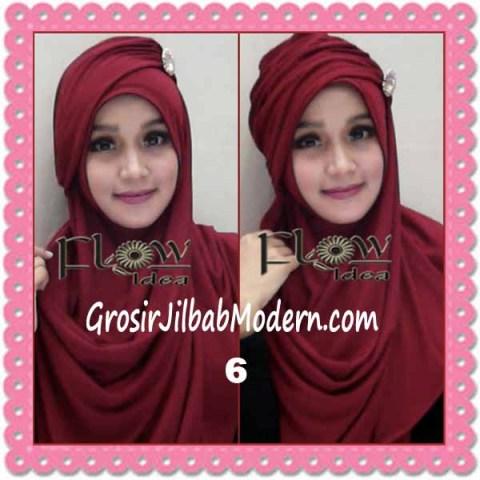 Jilbab Syria Topi Turban Almonda Trendy by FLOW Idea No 6 Marun