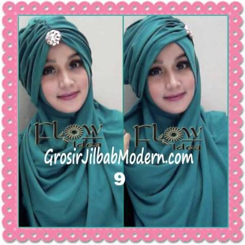 Jilbab Syria Topi Turban Almonda Trendy by FLOW Idea No 9 Toska