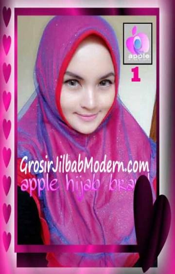 Jilbab Syria Unik Vienna Tutu by Apple Hijab Brand No 1 Merah