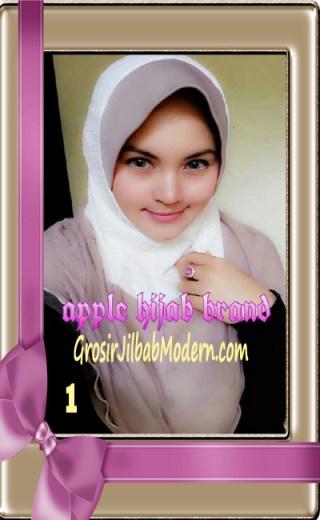 Jilbab Tutu Goldee Modis by Apple Hijab Brand No 1 Putih Cream