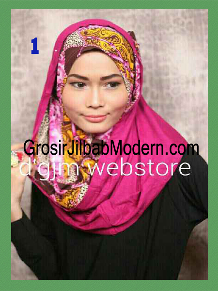 Jilbab Instant Syria Hoodie Latifa Trendy No 1