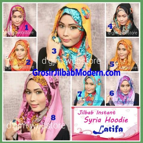 Jilbab Instant Syria Hoodie Latifa Trendy Series