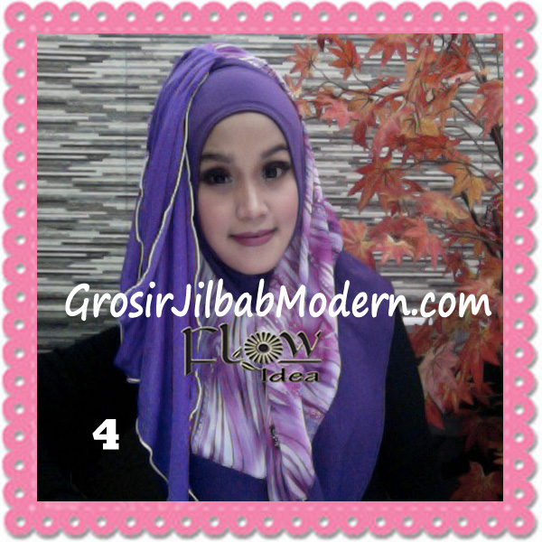 Jilbab Modern Instant Rainy Original by Flow Idea No 4 Ungu Ungu