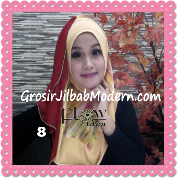 Jilbab Modern Instant Rainy Original by Flow Idea No 8  Kuning Merah