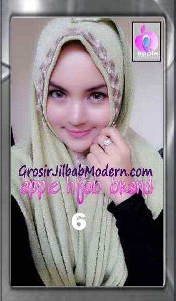 Jilbab Pashmina Instant Esme Praktis by Apple Hijab Brand No 6 Hijau Lime