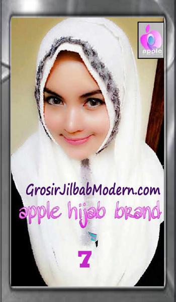 Jilbab Pashmina Instant Esme Praktis by Apple Hijab Brand No 7 Broken White