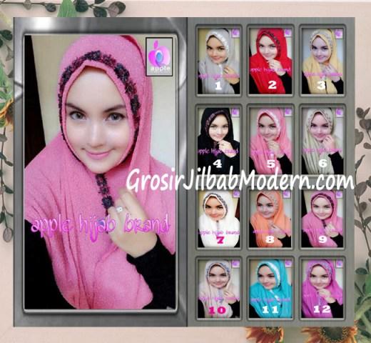 Jilbab Pashmina Instant Esme Praktis by Apple Hijab Brand Series