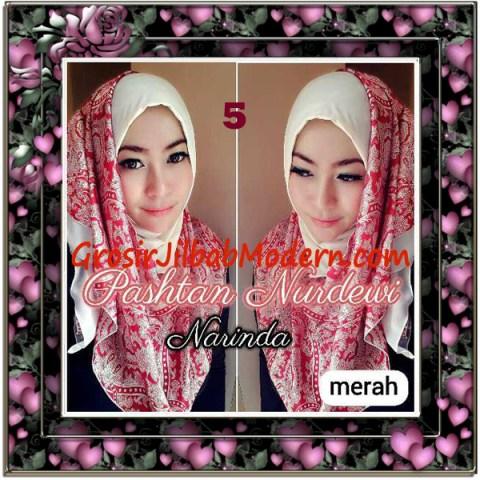 Jilbab Pashmina Instant Nurdewi Original by Narinda No 5 Merah