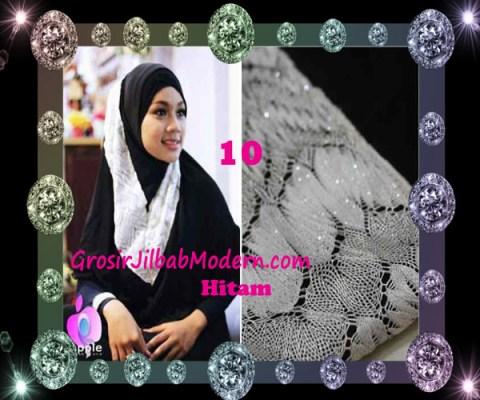 Jilbab Syar'i Exclusive Khadijah by Apple Hijab Brand No 10 Hitam