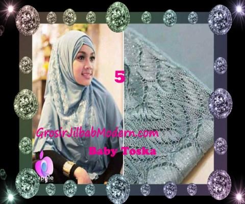 Jilbab Syar'i Exclusive Khadijah by Apple Hijab Brand No 5 Baby Toska