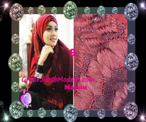 Jilbab Syar'i Exclusive Khadijah by Apple Hijab Brand No 9 Marun