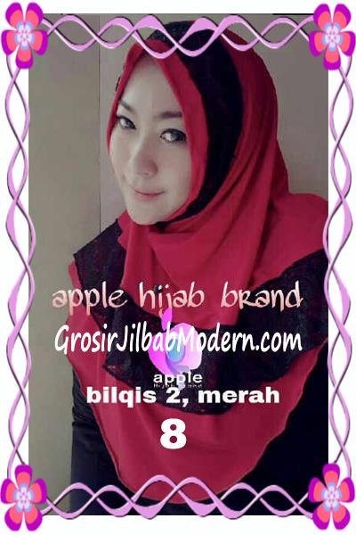 Jilbab Syria Bilqis Seri 2 Modis by Apple Hijab Brand No 8 Merah