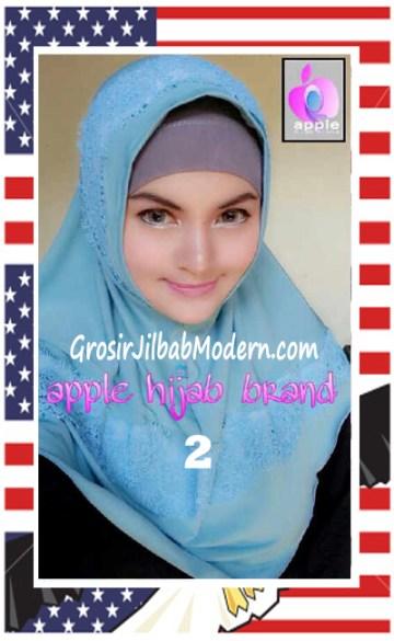 Jilbab Syria Bilqis Stylish dan Syar'i by Apple Hijab Brand No 2 Baby Toska