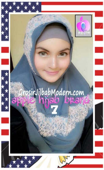 Jilbab Syria Bilqis Stylish dan Syar'i by Apple Hijab Brand No 7 Abu-Abu