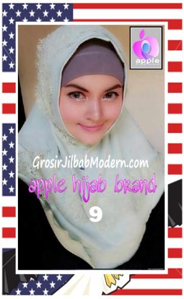 Jilbab Syria Bilqis Stylish dan Syar'i by Apple Hijab Brand No 9 Mint