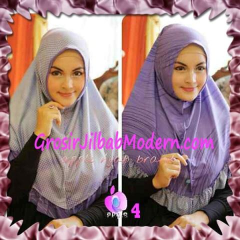 Jilbab Syria Bolak Balik Abstrak Cantik by Apple Hijab Brand No 4 Lavender