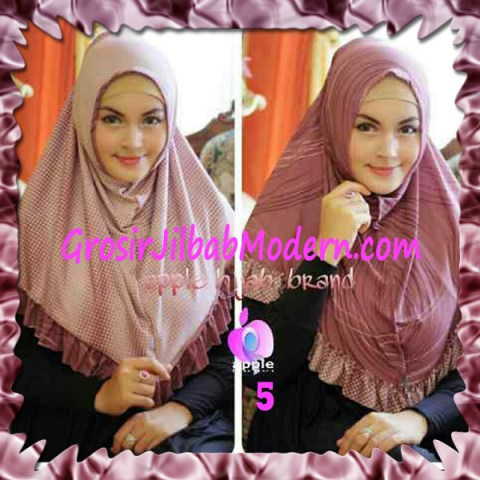 Jilbab Syria Bolak Balik Abstrak Cantik by Apple Hijab Brand No 5 Peach