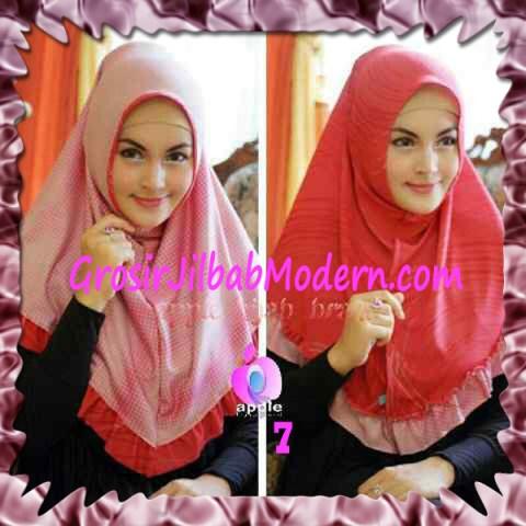 Jilbab Syria Bolak Balik Abstrak Cantik by Apple Hijab Brand No 7 Orange Tua