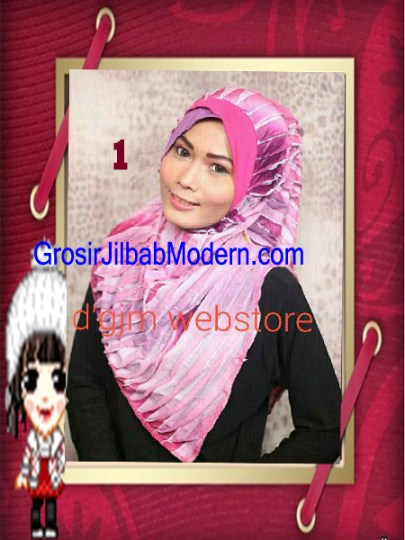 Jilbab Syria Cross Ruffle Ameena No 1