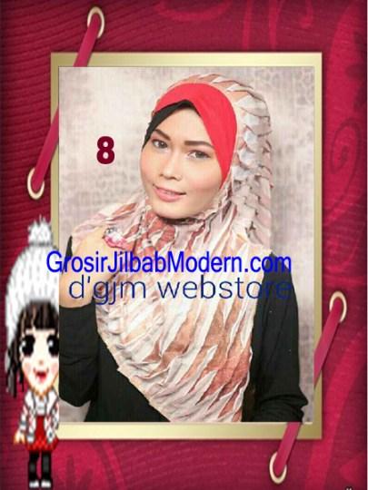 Jilbab Syria Cross Ruffle Ameena No 8