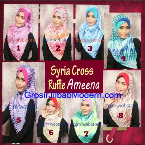 Jilbab Syria Cross Ruffle Ameena Series