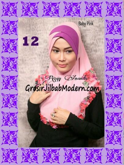 Jilbab Syria Jelita Original by Rizky Ananda No 12 Baby Pink