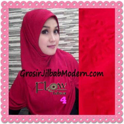 Jilbab Syria Modis Padma Original by Flow Idea No 4 Merah