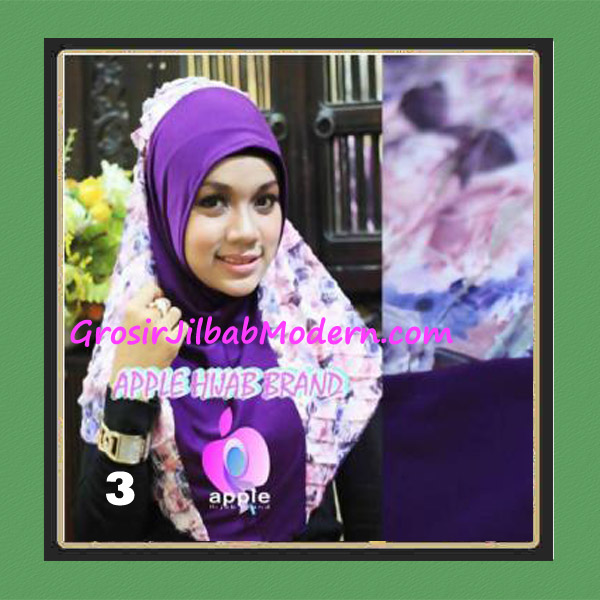 Jilbab Syria Sofia Frill Modis by Apple Hijab Brand No 3 Ungu Tua