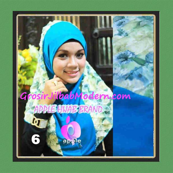 Jilbab Syria Sofia Frill Modis by Apple Hijab Brand No 6 Biru Tosca
