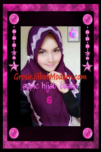Jilbab Yafee Syar'i Modis by Apple Hijab Brand No 6 Ungu Tua