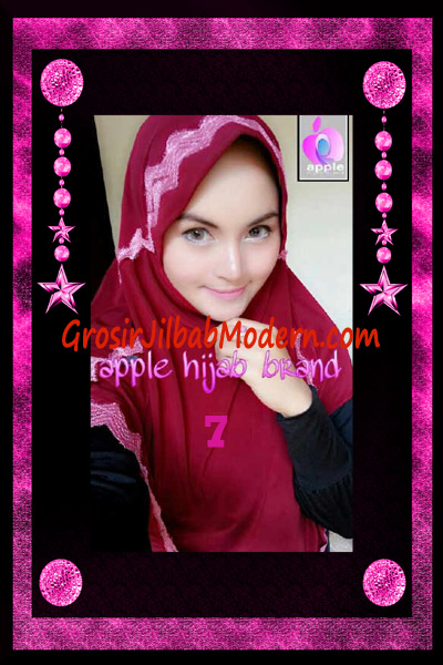 Jilbab Yafee Syar'i Modis by Apple Hijab Brand No 7 Marun