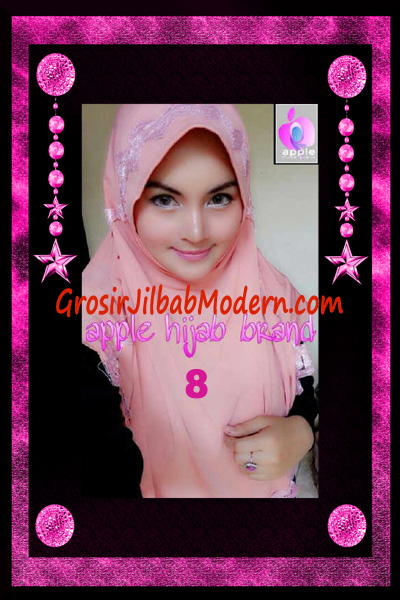 Jilbab Yafee Syar'i Modis by Apple Hijab Brand No 8 Dusty Salem