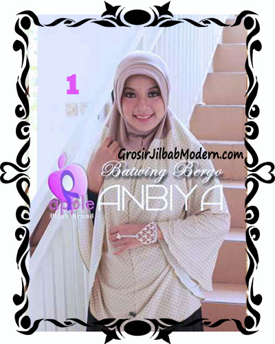 Jilbab Batwing Bergo Anbiya Praktis by Apple Hijab Brand No 1