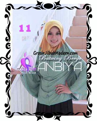 Jilbab Batwing Bergo Anbiya Praktis by Apple Hijab Brand No 11