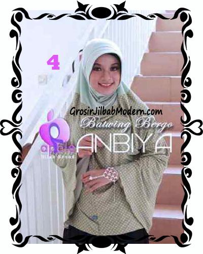 Jilbab Batwing Bergo Anbiya Praktis by Apple Hijab Brand No 4