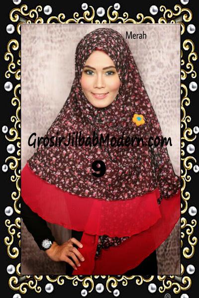Jilbab Cerutti Trendy Khimar Nabila by Rizky Ananda No 9