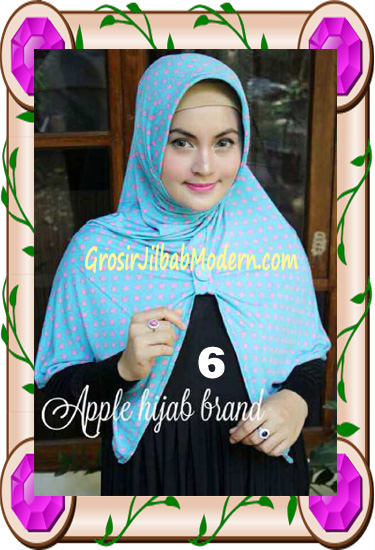 Jilbab Harian Modis Arzety Volca by Apple Hijab Brand No 6