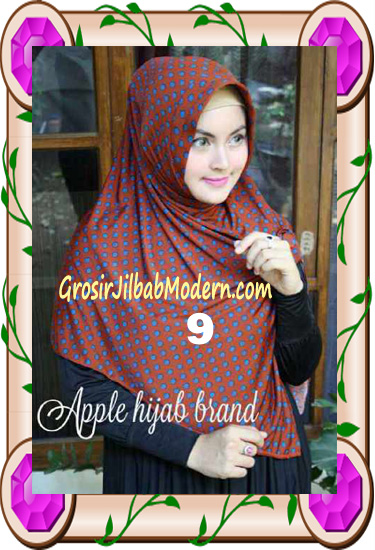 Jilbab Harian Modis Arzety Volca by Apple Hijab Brand No 9