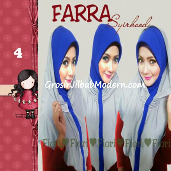 Jilbab Instant Farra Syirhood Modis by Fiori Design No 4 Abu-Biru