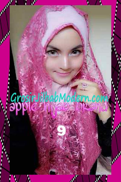 Jilbab Instant Syria Hoodie Layer Maryam by Apple Hijab Brand No 9 Dusty Pink